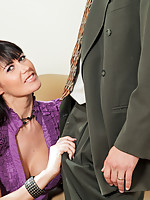 Anilos Eva Karera gets what she wished for a warm cum burst on her huge tits